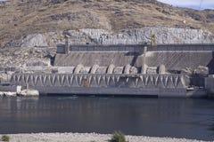 Tredje powerplant som tillfogas i 1985, storslagen Coulee fördämning hydroelektriskt s arkivbild