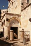 Tredje station på via Dolorosa, Jerusalem, Israel Arkivbilder
