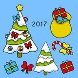 Treeрождествас подарками Стоковые Фото