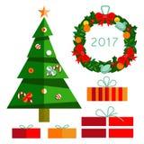 Treeрождествас gifts2017 Стоковая Фотография