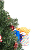 Tree. Christmas tree and presents isolated on white background Stock Image