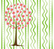 Tree. Vector tree in blossom and on a background Royalty Free Stock Images