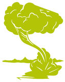 Tree. Illustration drawing of green tree isolate in white background Royalty Free Stock Photo