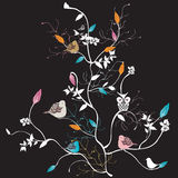 Tree. Illustration of a tree with birds Royalty Free Stock Photo