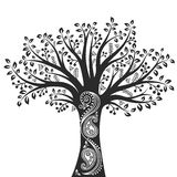 Tree. Vector illustration of a tree with paisley ornament Royalty Free Stock Photos