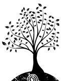 Tree. Drawing of black tree in a white background Royalty Free Stock Photo