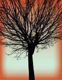 Tree. Abstract background with black tree Stock Photo