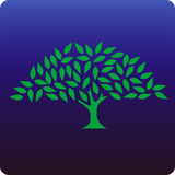 Tree. Celtic tree icon on blue background stock illustration