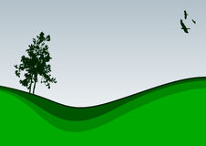 A tree. Vector illustration of a lonely tree Stock Images