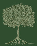 Tree. Beautiful detailed Ilustration of a tree made by hand Stock Photo
