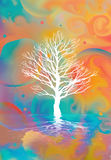 Tree abstract. An image of a white tree on an abstract background Royalty Free Stock Images