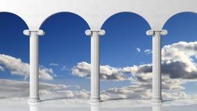 Tree ancient pillars with blue sky Royalty Free Stock Photos