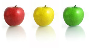 Tree Apple. Red, Yellow, Gree, Semaphor stock photography