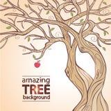 Tree apple. Illustration adorable stylized tree apple Stock Images