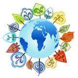 Tree around the globe  Stock Images