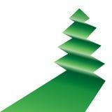 Tree asymmetric. An asymmetric tree icon folded in green on white Stock Images