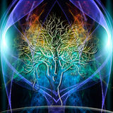 Tree Aura. The colored Aura of a single Tree stock illustration
