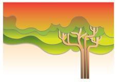 Tree Autumn Abstract illustration Stock Image