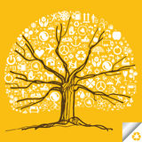 Tree in Autumn background Royalty Free Stock Photos