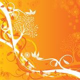 Tree autumn background, vector Stock Image