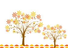 Tree autumn background, vector Stock Photo