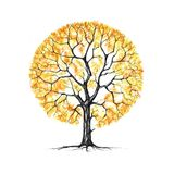 The tree, autumn, drawing Royalty Free Stock Photos