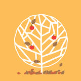 Tree in autumn. Tree in four seasons vector illustration Stock Images