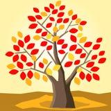 Tree autumn leaves. Illustration vector beautiful nature Stock Photos