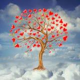 Tree av förälskelse royaltyfri illustrationer