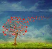 Tree av förälskelse Arkivbild