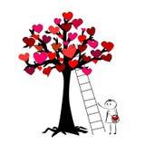 Tree av hjärtor Arkivfoto