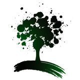 Tree background. Vector illustration of a tree background Stock Photos