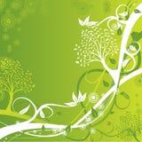Tree background, vector illustration