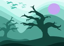 tree without leaves vector illustration