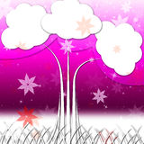 Tree Background Means Nature Outside And Flowers Stock Images