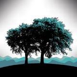Tree background vector illustration