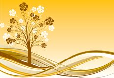 Tree background, vector Royalty Free Stock Photography