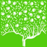 Tree background. Vector graphic illustration design art Royalty Free Stock Photos