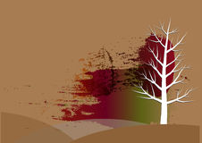 Tree background , white trees  paper cut watercolor background,Vector illustration Stock Image