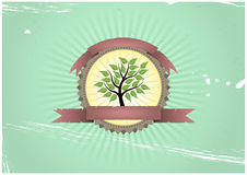 Tree badge Royalty Free Stock Image