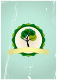 Tree badge Stock Image