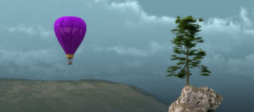Tree and balloon Stock Photography