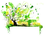 Tree banner Royalty Free Stock Images