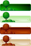Tree banner set. Royalty Free Stock Image
