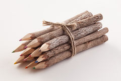 Tree bark pencils 1 Stock Photo
