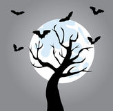 Tree with bats Royalty Free Stock Images