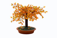 Tree of Beads. Orange Yellow and Green Handmade Tree made of beads Stock Photos