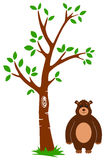 Tree and Bear Stock Photography