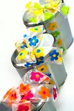 Tree beautiful metal gift boxes Stock Image