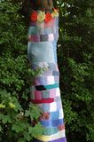 Tree Bestwood Womens InstituteGates  Yarn Bombing Stock Images